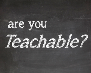 are you teachable